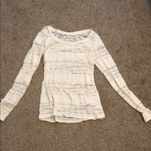 Express Lace Long Sleeve Shirt